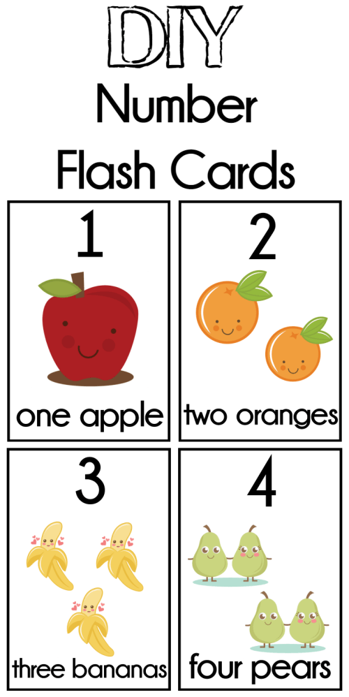 DIY Number Flash Cards