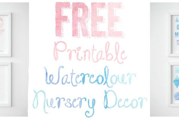 FREE Printable Watercolour Nursery Decor
