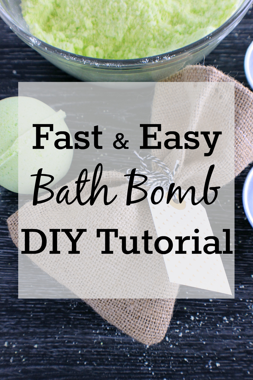 Fast & Easy DIY Bath Bombs Tutorial
