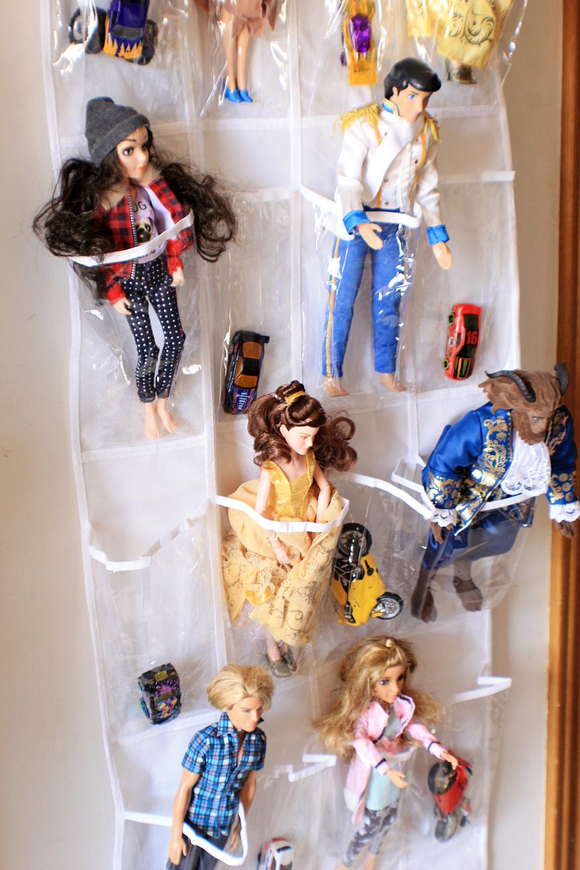 Over-The-Door Shoe Organizer Toy Storage Mom Hack