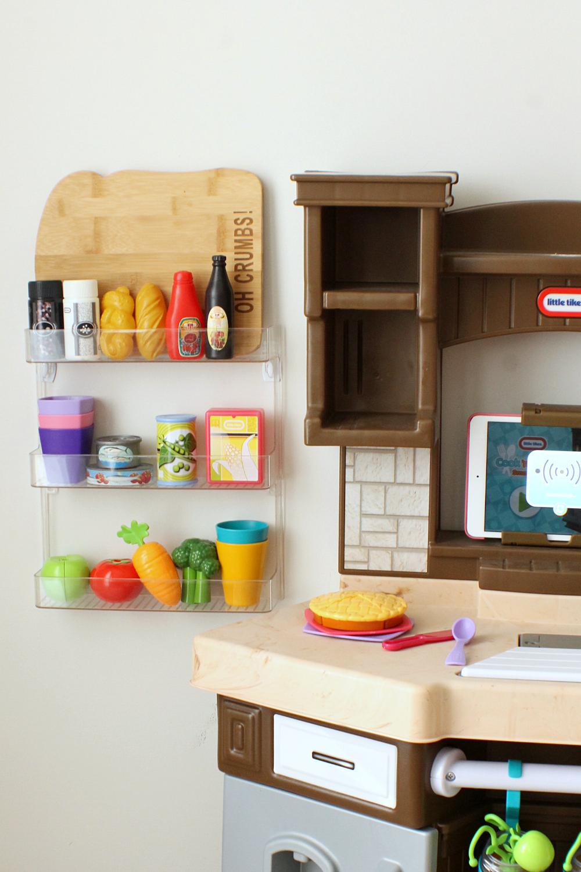 Plastic Spice Rack Toy Food Storage Mom Hack