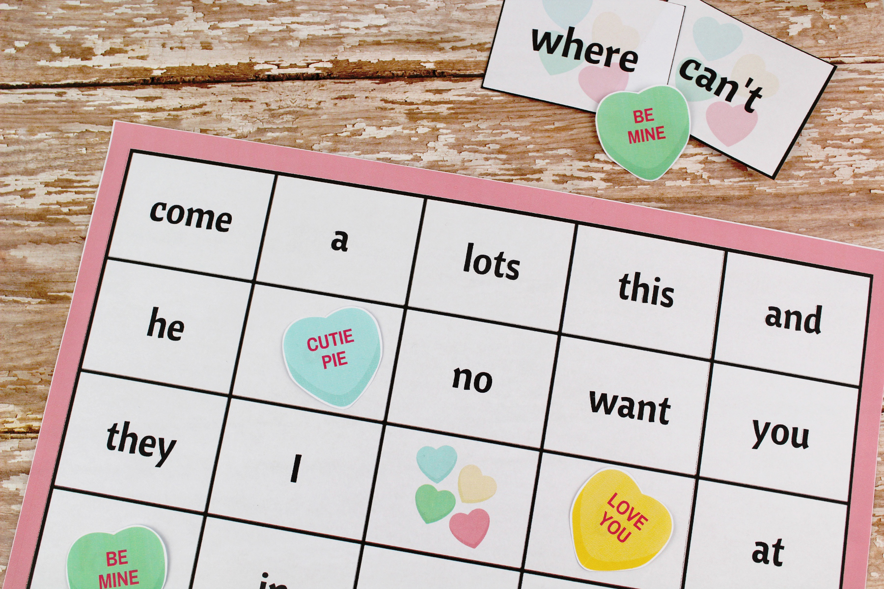 Valentine S Day Sight Word Bingo Free Printable Package