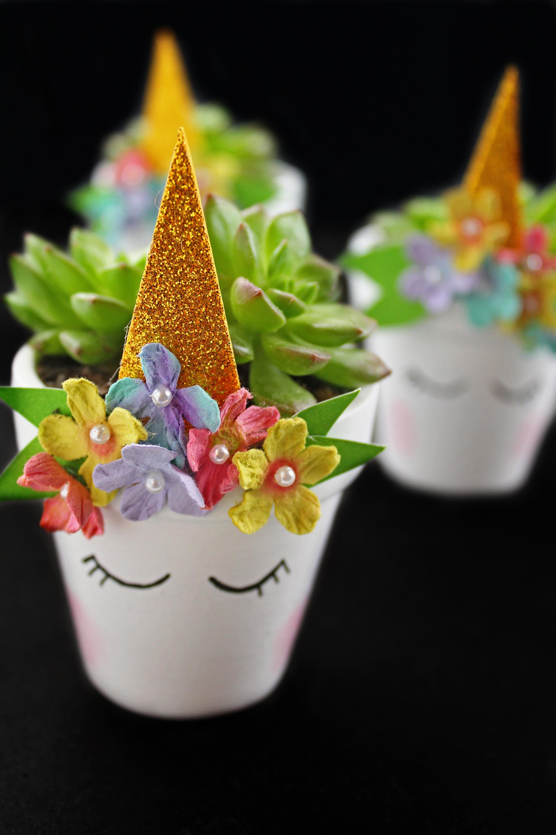 DIY Magical Unicorn Succulent Plant Pot Extreme