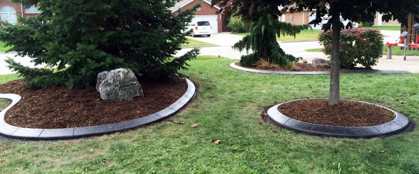 stamped concrete cement curbing