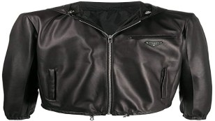 Leather Jacket Mens, Prada Leather Coat