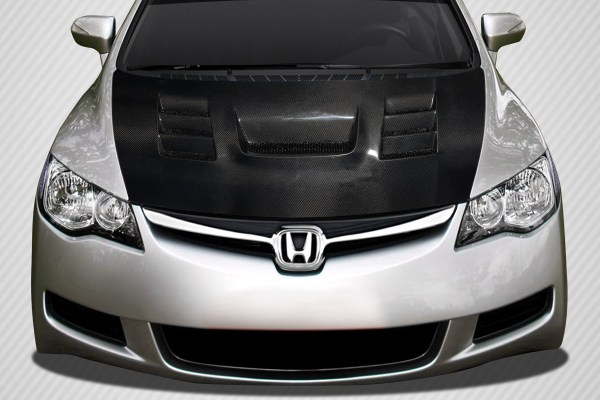 2007 Honda Civic 4dr Carbon Fiber Hood Body Kit - 2006