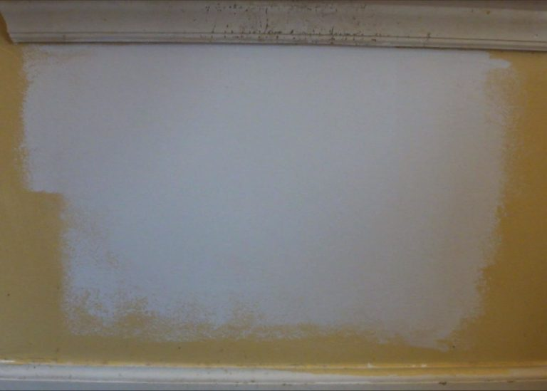 Drywall Patch Repair Primed and Ready for Final Coat