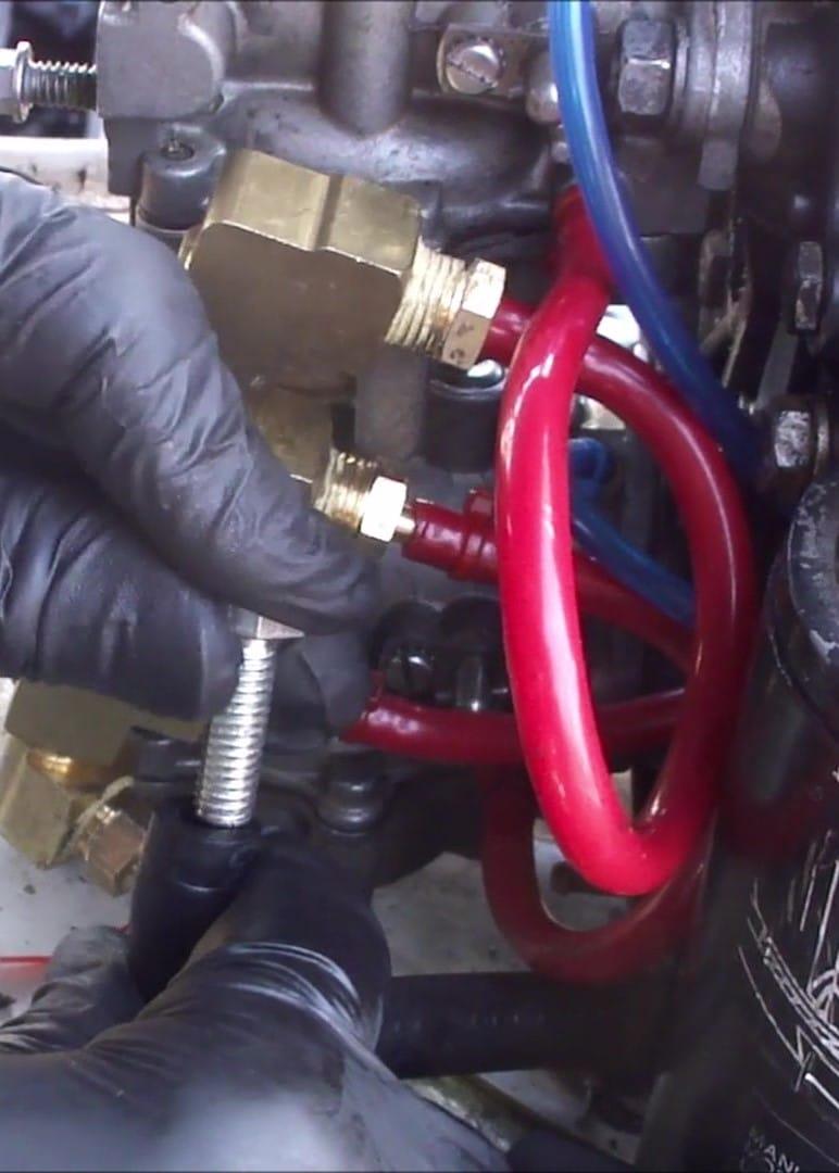 Replace a Johnson Evinrude VRO Oil Pump with a Standard Fuel
