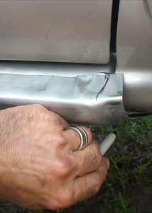 Marking the Replacement Rocker Panel