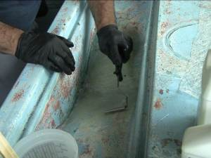Fiberglass Repair Finned Aluminum Roller