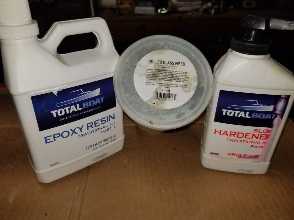 Epoxy milled glass thickener