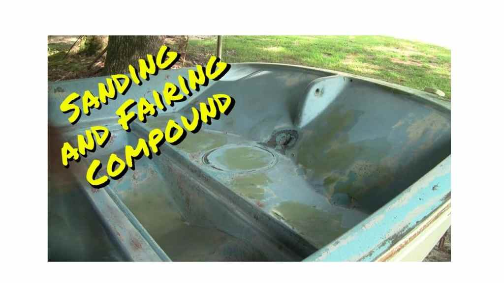 Sanding and Fairing Compound