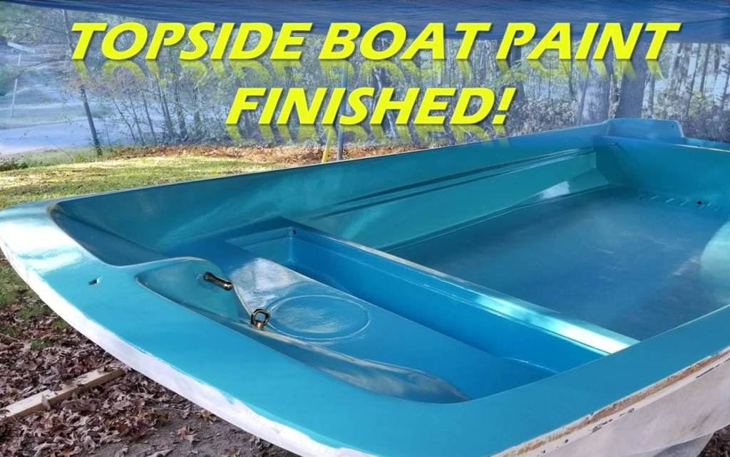 Final Topside Boat Paint Finished
