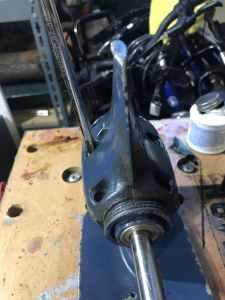 Installing Screws on Skeg
