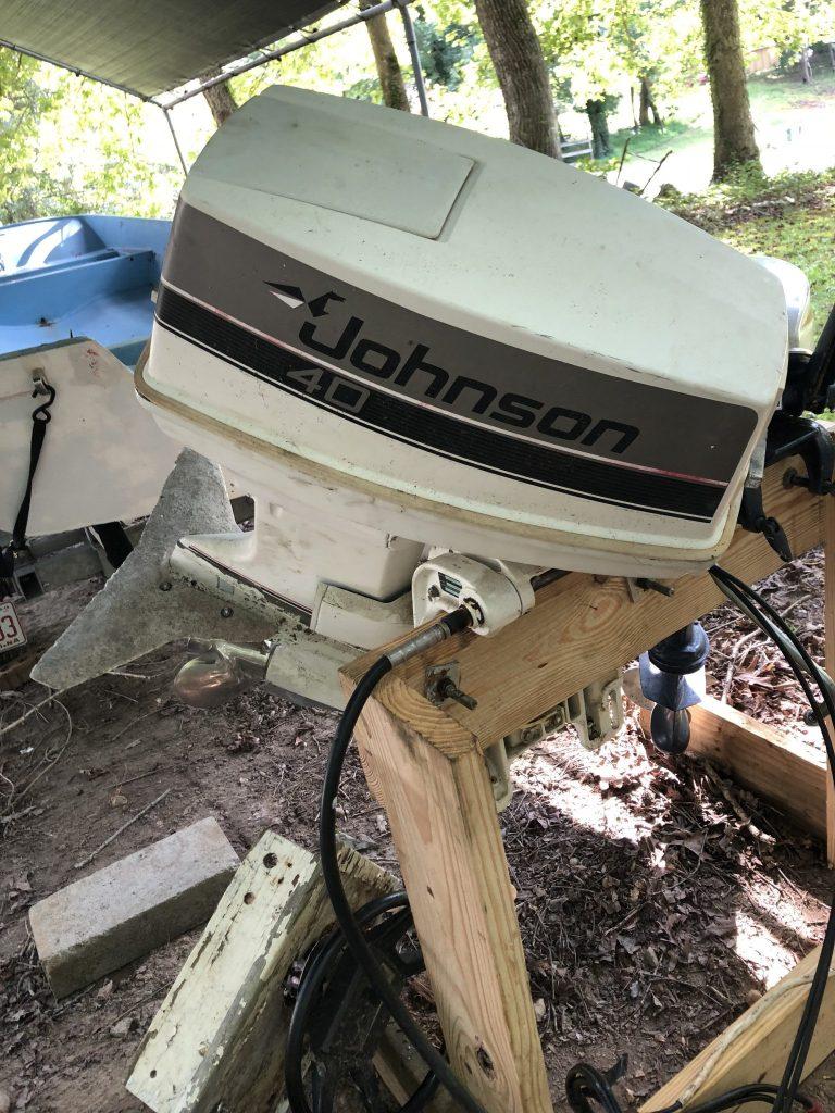 Johnson 40HP Stuck Tilt Tube and Frozen Steering Rod