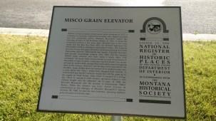 MISCO Grain Elevator National Register plaque
