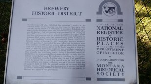 Brewery District National Register plaque
