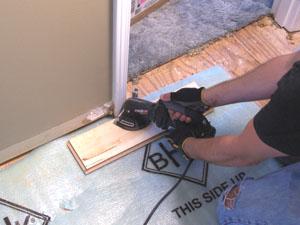 How To Cut Vinyl Flooring Around Doors