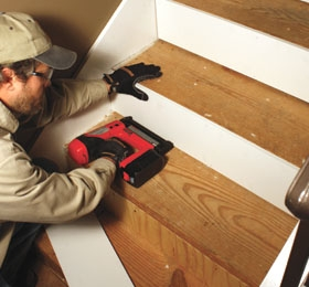 Remodel With Prefinished Stair Treads Extreme How To | Prefinished Hardwood Stair Treads | Hand Scraped | Wood Stair | Red Oak Natural | Flooring | White Oak