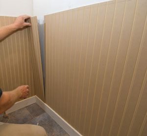 Installing Wainscot in a Powder Bath  Extreme How To