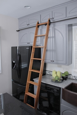 kitchen ladder granite set respect your when working at heights extreme how to ladders come in all shapes and sizes such as this wooden from putnam