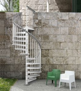 Diy Spiral Stairs Extreme How To   10 Ft Spiral Staircase   Arke Eureka   Balcony Railing   Lowes   Gray Interior   Attic Staircase