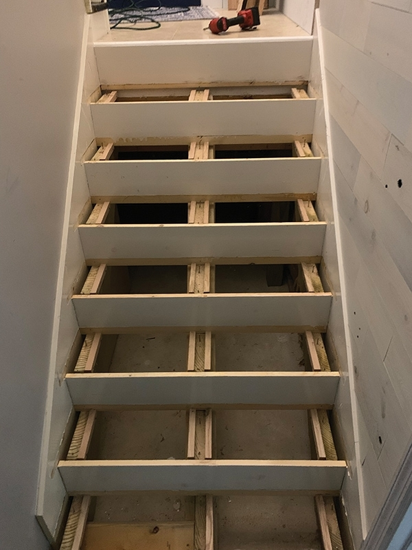 Remodeling A Staircase—Tread Riser And Stringer Replacement For | Best Wood For Stair Stringers | Primer | Stair Railing | Deck | Porch | Deck Stairs