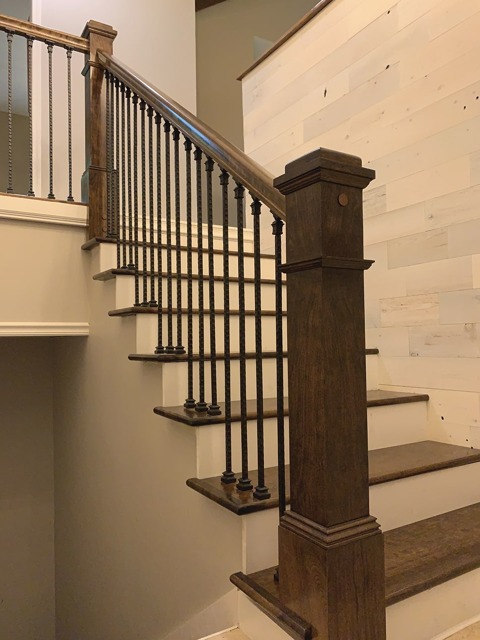 Diy Stair Rail Installation Extreme How To   Replacing Wood Balusters With Iron   Staircase   Stair Spindles   Stair Parts   Handrail   Stair Railing