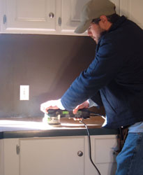 affordable kitchen countertops wall lights re-laminate your - extreme how to