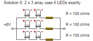 LED series parallel array wizard