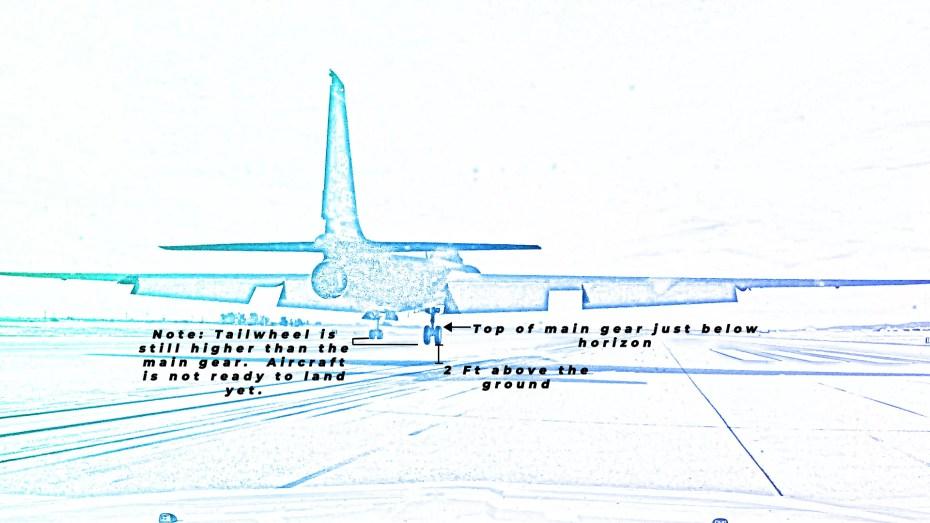 diagram of the U-2 at 2 feet