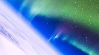 Looking over the northern lights circling around the pole