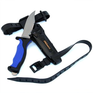 Promate Scuba Dive Snorkel Titanium Knife with Straps and Sheath