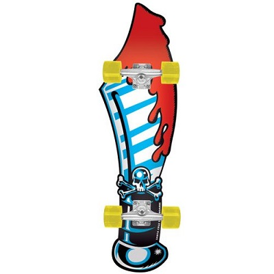 Santa Cruz Skate Slasher Sword Cruzer Skateboard Deck