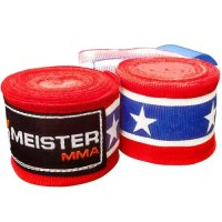 Meister Adult Semi-Elastic Hand Wraps for MMA and Boxing
