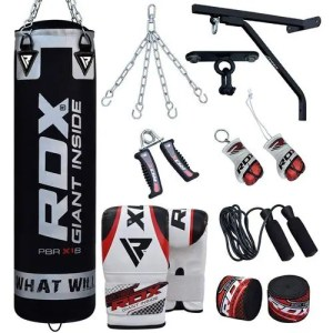 RDX Punching Bag Filled with Wall Bracket, Gloves and Chain Ceiling Hook