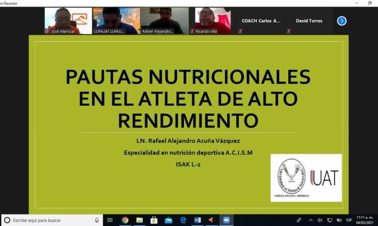 LUFAUAT imparte clínica nutricional a entrenadores