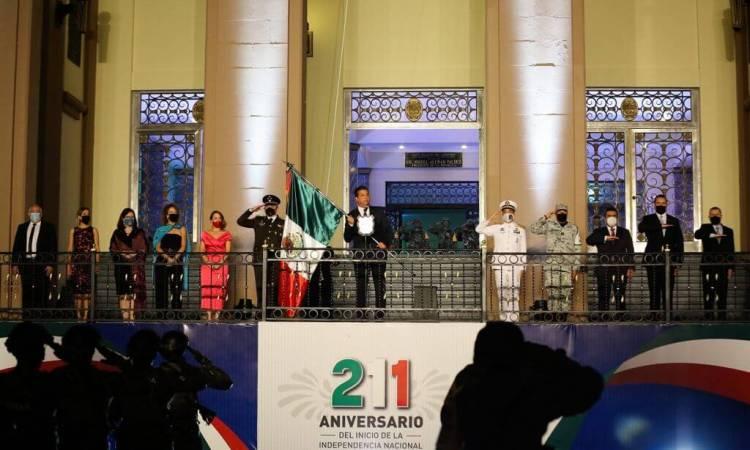 Conmemora Gobernador Francisco Cabeza de Vaca el 211 Aniversario de la Independencia de México