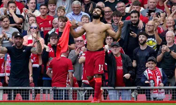 Premier League: Liverpool goleó al Crystal Palace y se coloca como líder del torneo