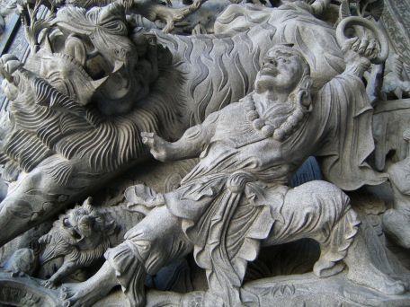 Altorrelieve templo chino Malasia