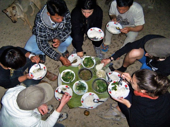 Cena en tour Luang Namtha