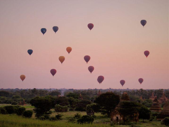 Vistas desde Estupa Bulethee, Bagan
