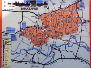 Plano Bhaktapur map, Nepal