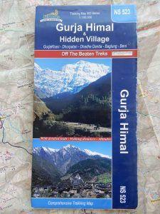 Mapa de Gurja Himal, Nepal