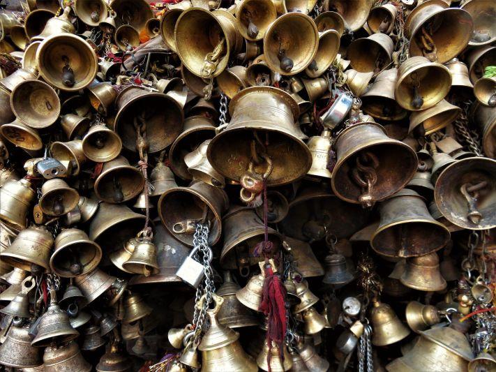 Campanillas en Lalitpur/Patan, Nepal