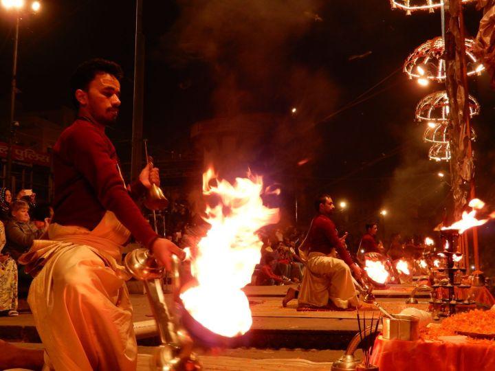 Ganga Aarti, Benarés, Varanasi, India