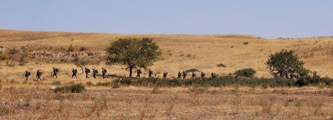 Soldados en Jrakan, Nagorno-Karabaj