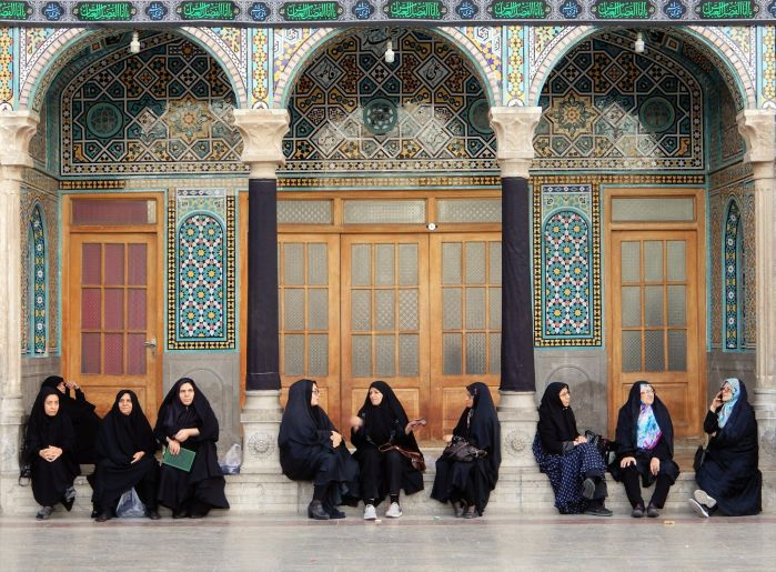 Grupos de mujeres, Santuario Fatemeh Maasoume Shrine, Qom, Iran