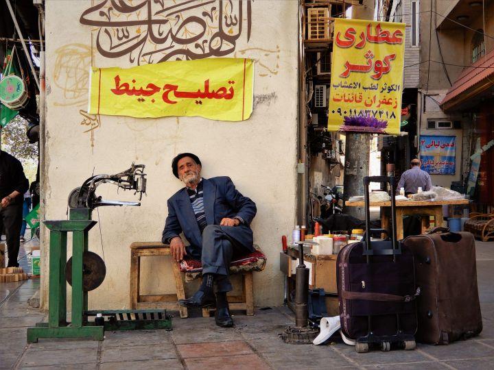 Zapatero de Calle, Qom, Iran