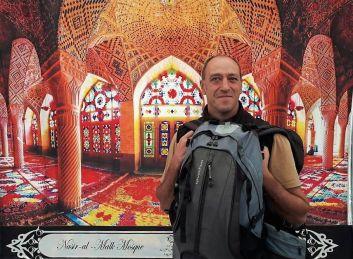 Viajero, Mezquita Nasir-al-Malk, Shiraz, Iran